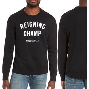 REIGNING CHAMP Gym Logo Crewneck Sweatshirt black
